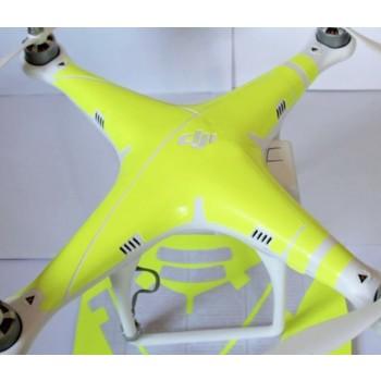 Yellow neon like sticker for DJI Phantom 2 Vision