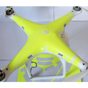 Yellow neon like sticker for DJI Phantom 2 Vision