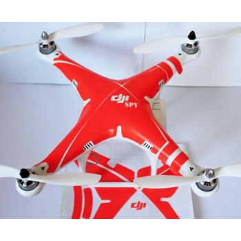 Red neon like sticker for DJI Phantom 2 Vision